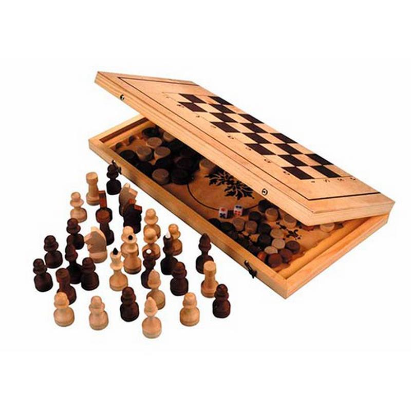 Игра 3 в 1 дерево (Россия), NoBrand  - купить со скидкой