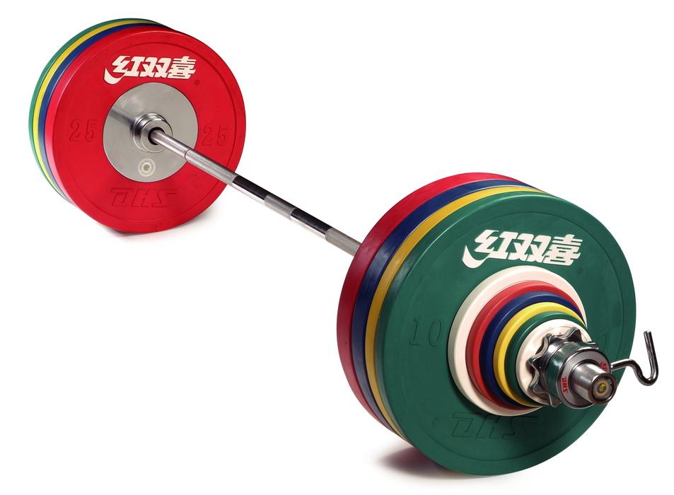 Купить Штанга женская DHS Olympic L220 см D50мм для соревнований 185 кг (IWF),