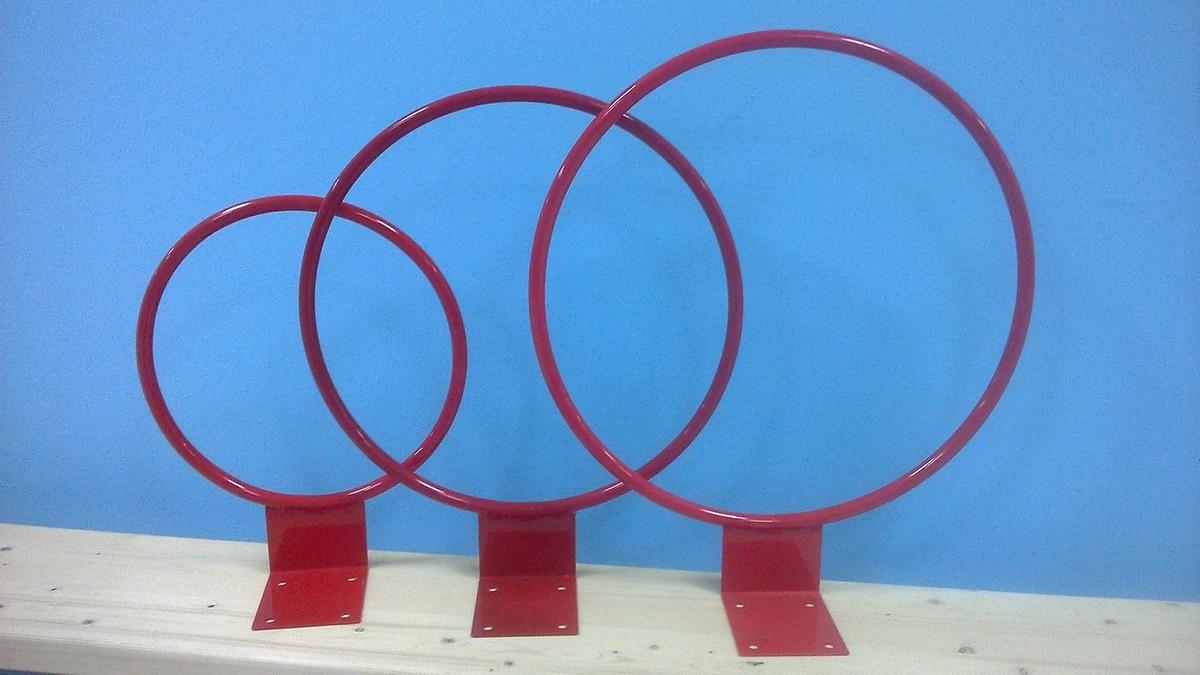 Кольцо баскетбольное ФСИ метал, №7-корзина (труба), 70x80мм, без сетки, d450 мм, 4361