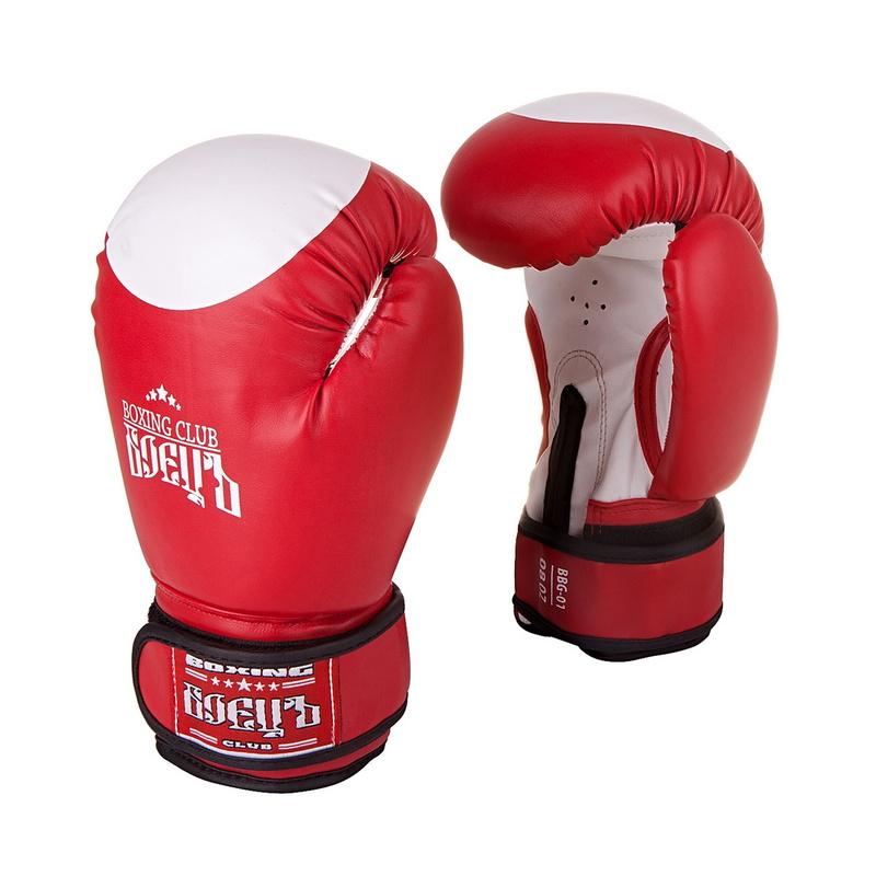 Купить Боксерские перчатки Боецъ BBG-01 Красные 10 oz,