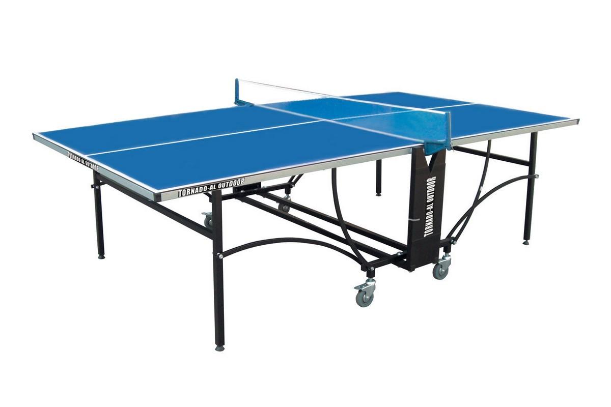 Купить Уценка Стол теннисный Donic Tornado-AL-Outdoor, 4 мм, синий,