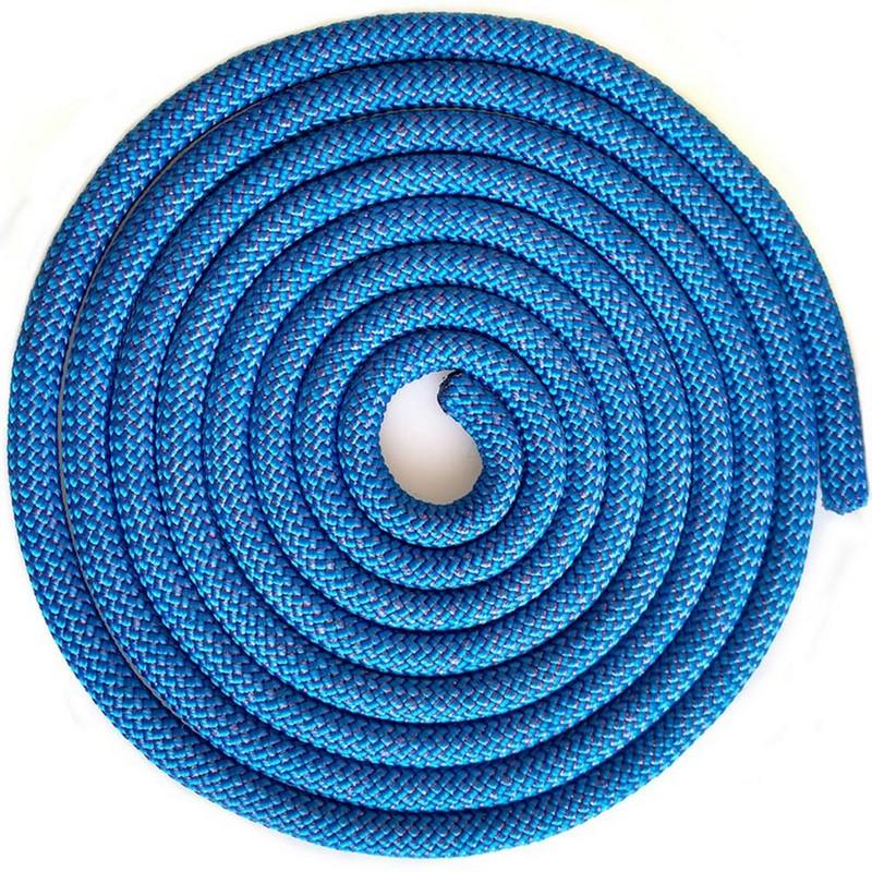 Купить Скакалка для художественной гимнастики 3 м Pro SKG10-14 синий с блестками, NoBrand