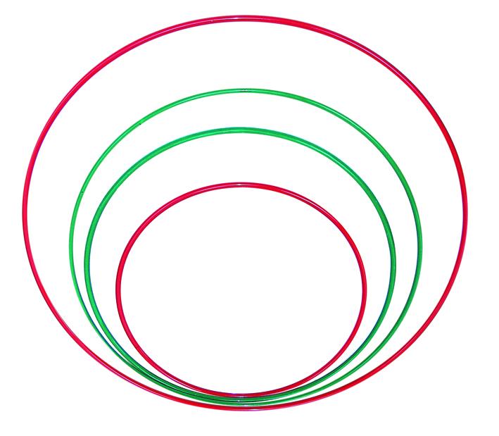 Обруч для похудения металлический окрашенный (диаметр 54, 65, 75 или 90см)