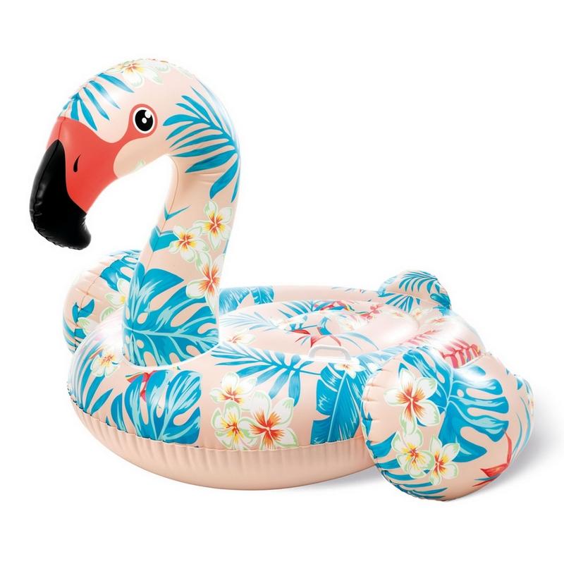 Купить Надувной плотик Тропический Фламинго, 142х137х97см, от 3 лет Intex 57559,