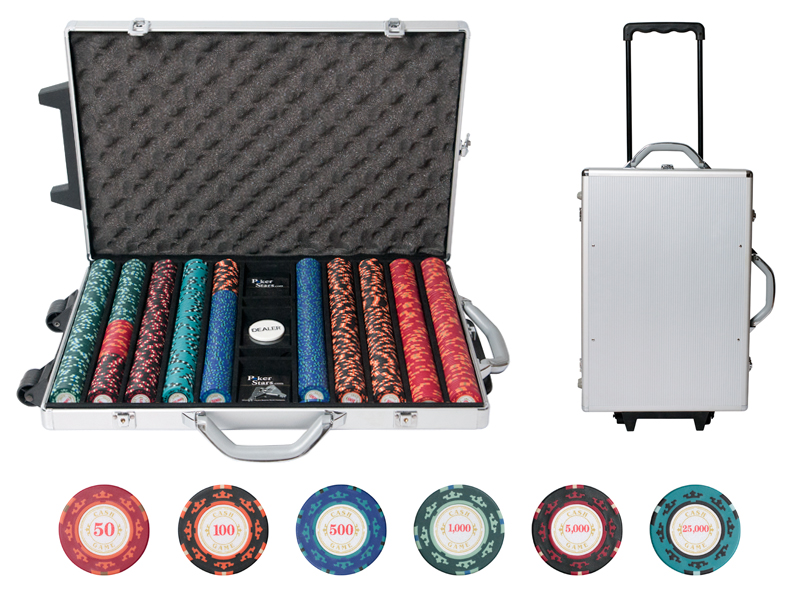 Набор для покера Casino Royale на 1000 фишек cr1000 фишки для покера pokechip 5pcs 11 fichas e30