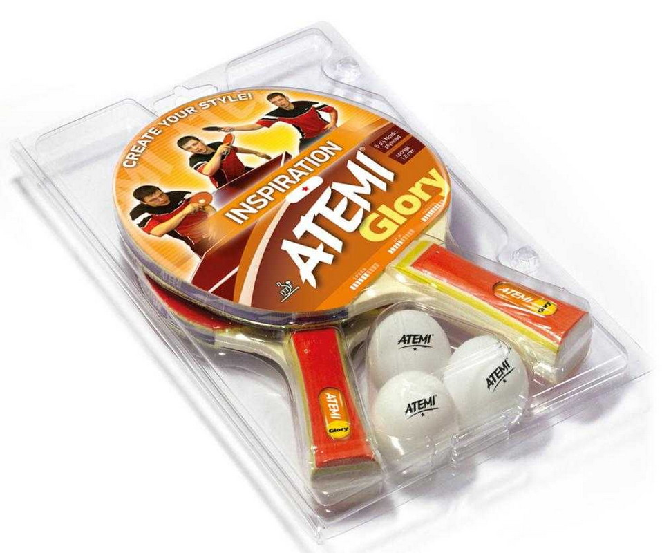 Купить Набор для настольного тенниса Atemi Glory 2 ракетки+3 мяча,