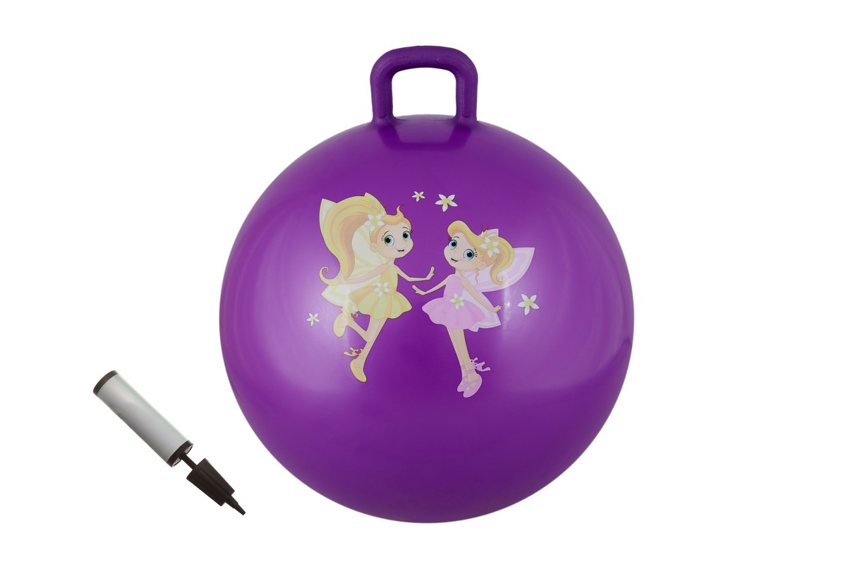 Мяч с ручкой + насос Body Form BF-CHBP01 D=65 см фиолетовый
