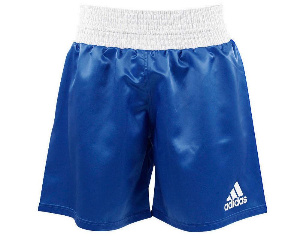 Шорты боксерские Adidas Multi Boxing Shorts синие adiSMB01 шорты adidas боксёрские боксерские amateur boxing shorts красные размер s артикул aditb152
