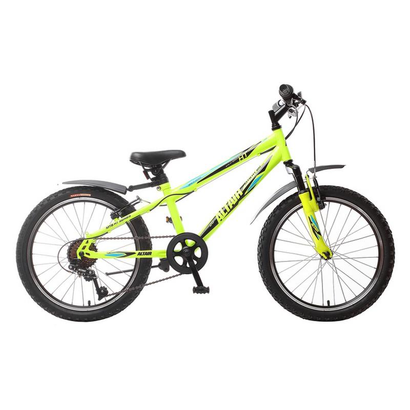 Подростковый велосипед Altair MTB HT 20 2.0 (2018) желтый\зелёный