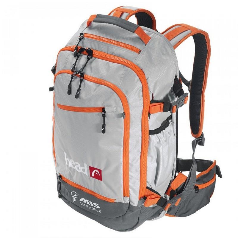 Рюкзак Head Freeride Backpack ABS совместимый, 26 литров, Grey-orange