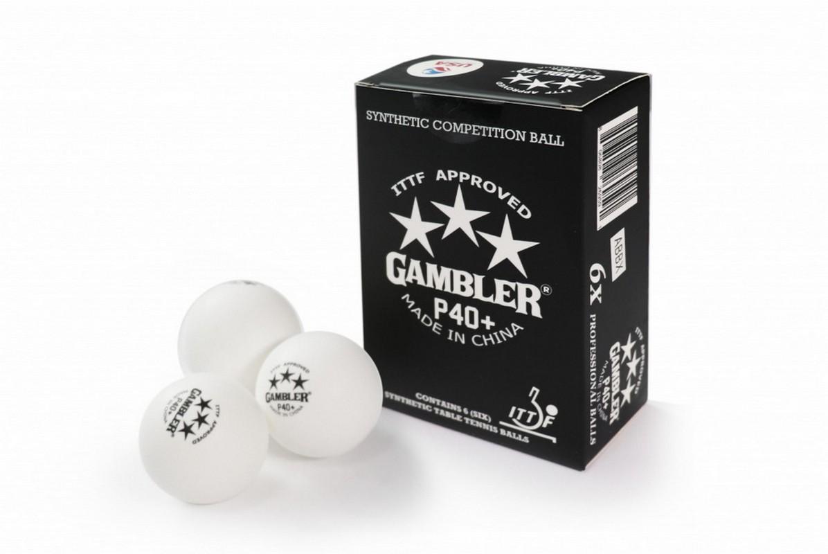 Купить Мячи для настольного тенниса Gambler P40+ BALL - 6 PACK GP40B6,