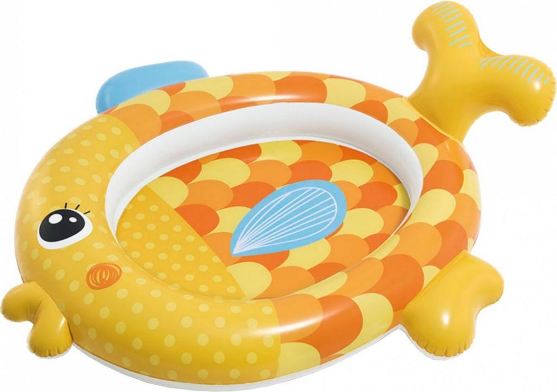 Купить Детский надувной бассейн140x124x34см Intex Золотая рыбка подружка 57111,
