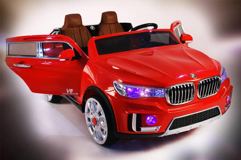 Купить Электромобиль River-Toys BMW M333MM Красный с ДУ, Детские электромобили