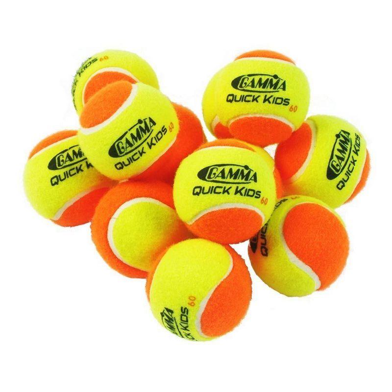 Детские теннисные мячи Gamma Quick kids 60 (детскиe, orange level) 12 шт