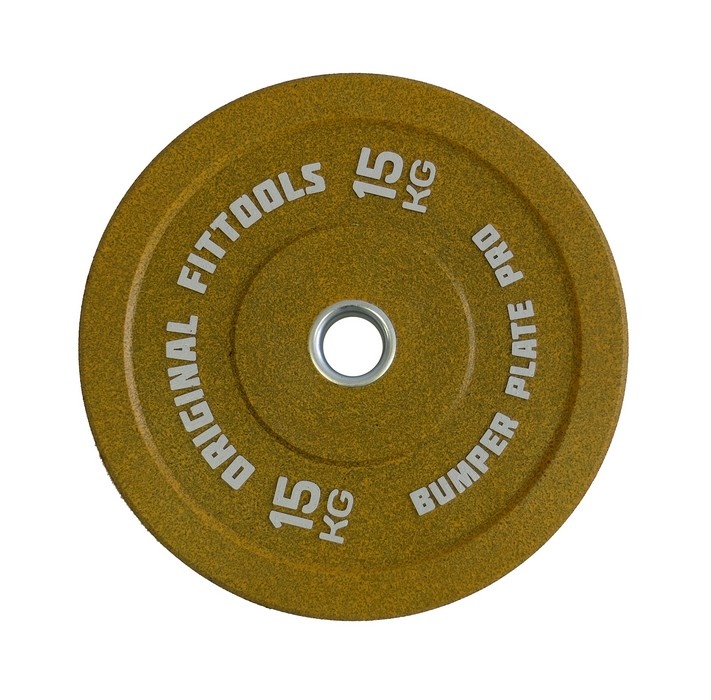 Диск бамперный Original Fit.Tools 15 кг (желтый) FT-BPY-15