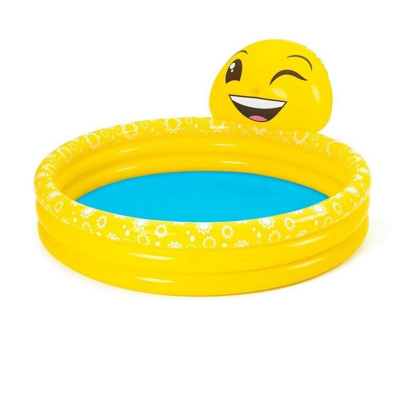 Купить Детский надувной бассейн Bestway Смайлик, 165х144х69 см 53081,