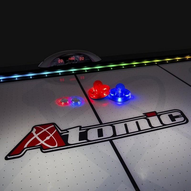 Шайба для аэрохоккея Atomic Top Shelf прозрачная, красный светодиод d=76 mm