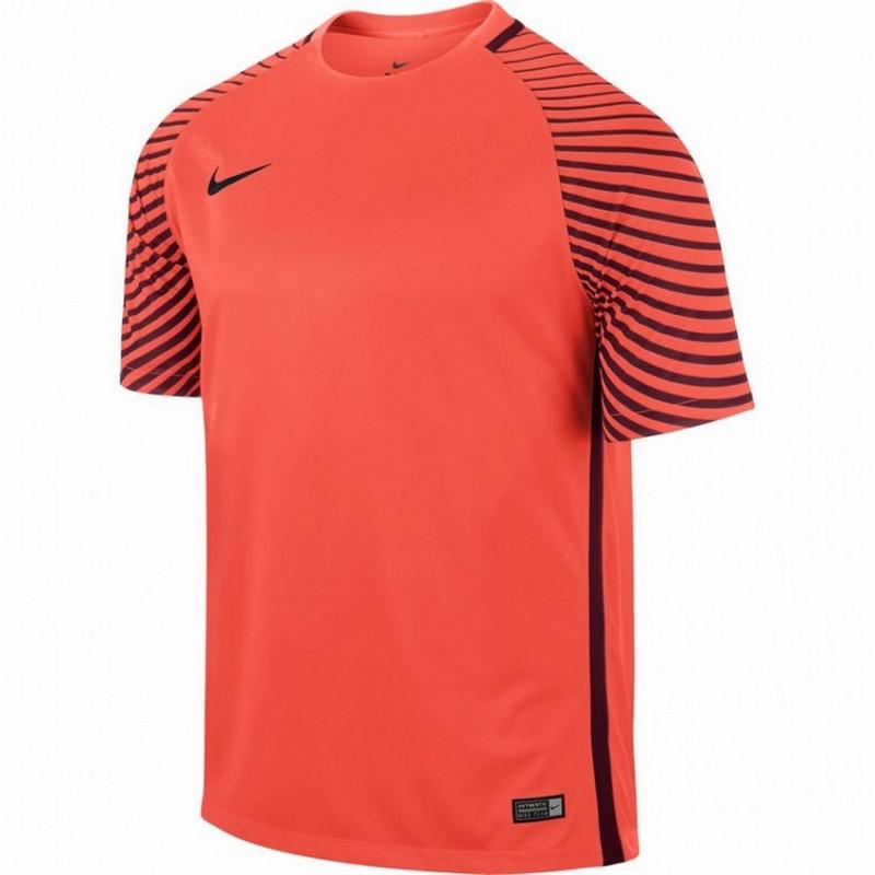 Футболка вратаря Nike Gardien Jsy Ss 725889-671 оранж/черн