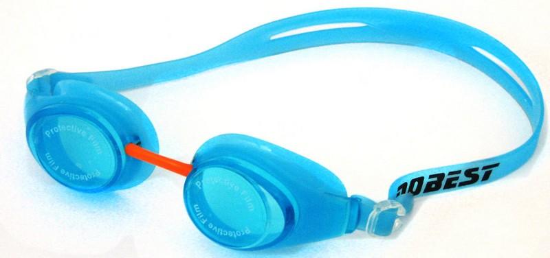 Очки для плавания Dobest HJ-42, голубой фото