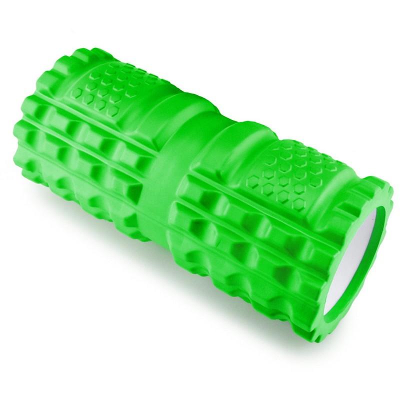 Ролик для йоги 33х14см ЭВА/АБС B32208 зеленый, NoBrand  - купить со скидкой