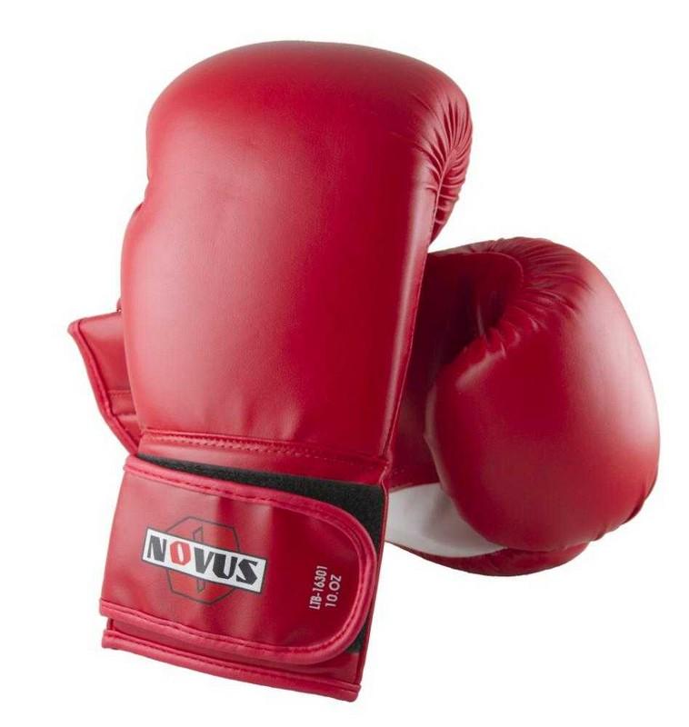 Перчатки боксерские Novus LTB-16301, 10 унций S/M, красные перчатки боксерские green hill dove цвет синий белый вес 10 унций bgd 2050