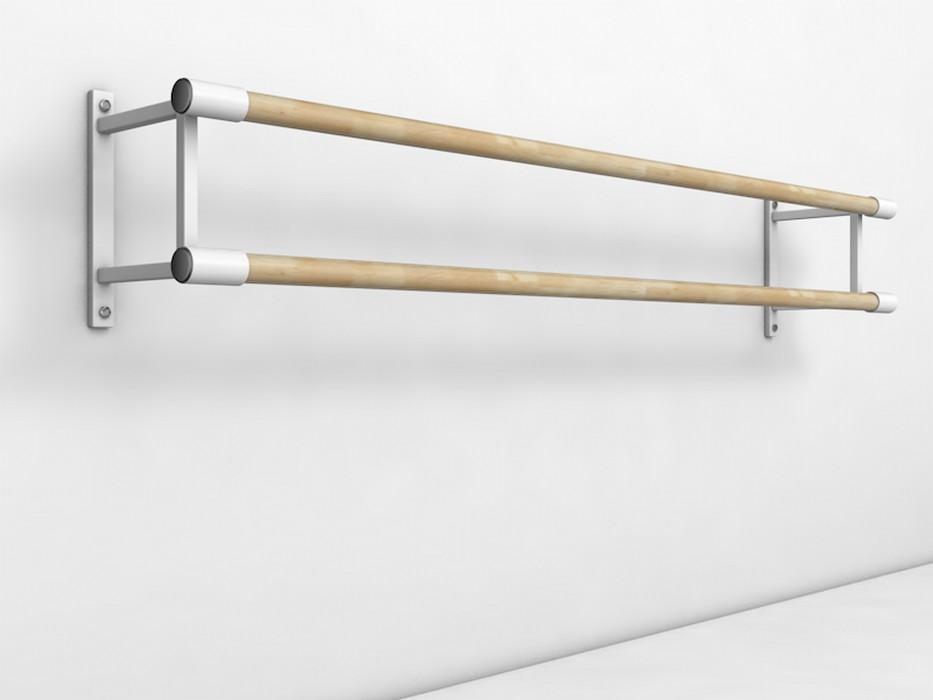 Купить Станок хореографический Atlet настенный, двурядный (2,0 м) поручень - сосна IMP-A440,