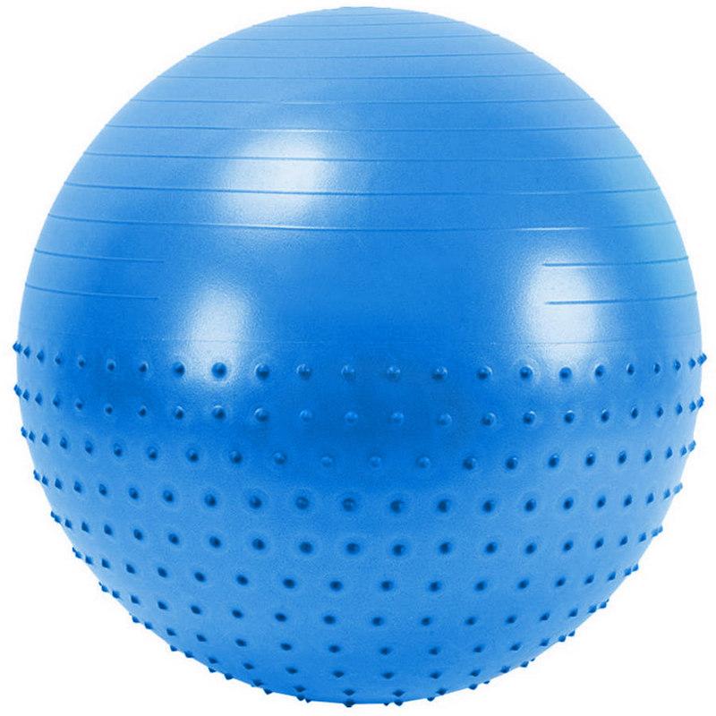 Купить Мяч гимнастический Anti-Burst полу-массажный 65 см FBX-65-3, синий, NoBrand
