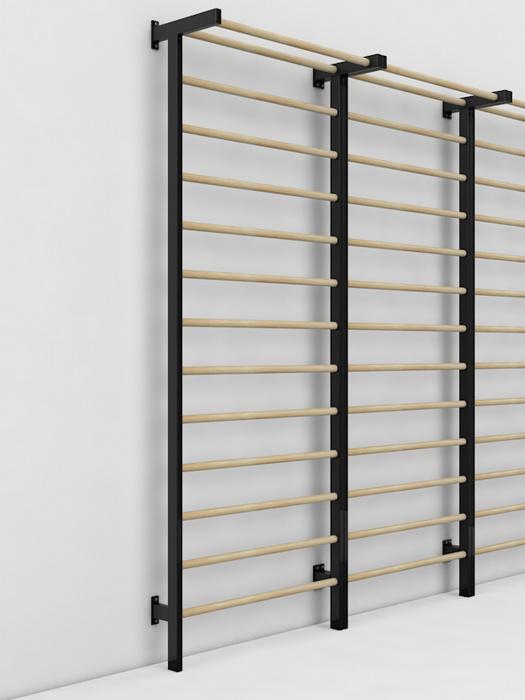 Купить Шведская стенка Glav металл/береза, размер 3000х1000 мм 04.201.1-3000-1000,