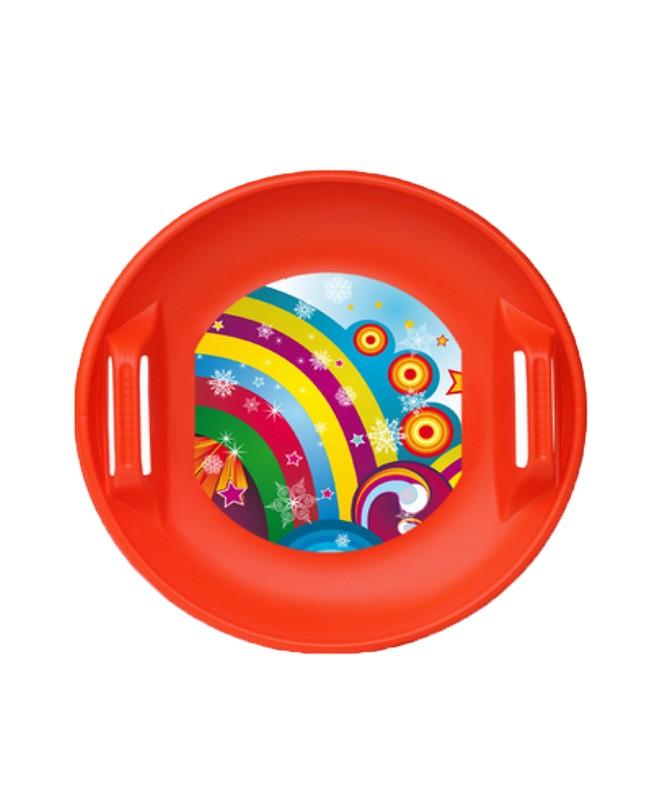 Ледянка дисковая Форсаж 60 см красная