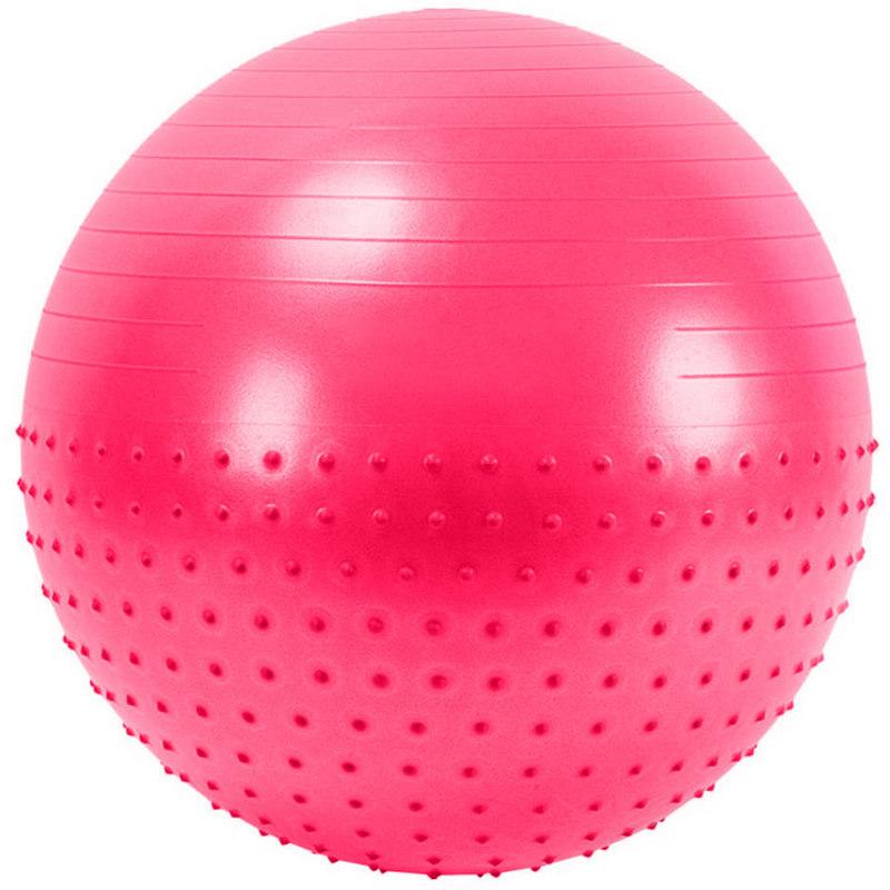 Купить Мяч гимнастический Anti-Burst полу-массажный 55 см FBX-55-4, розовый, NoBrand