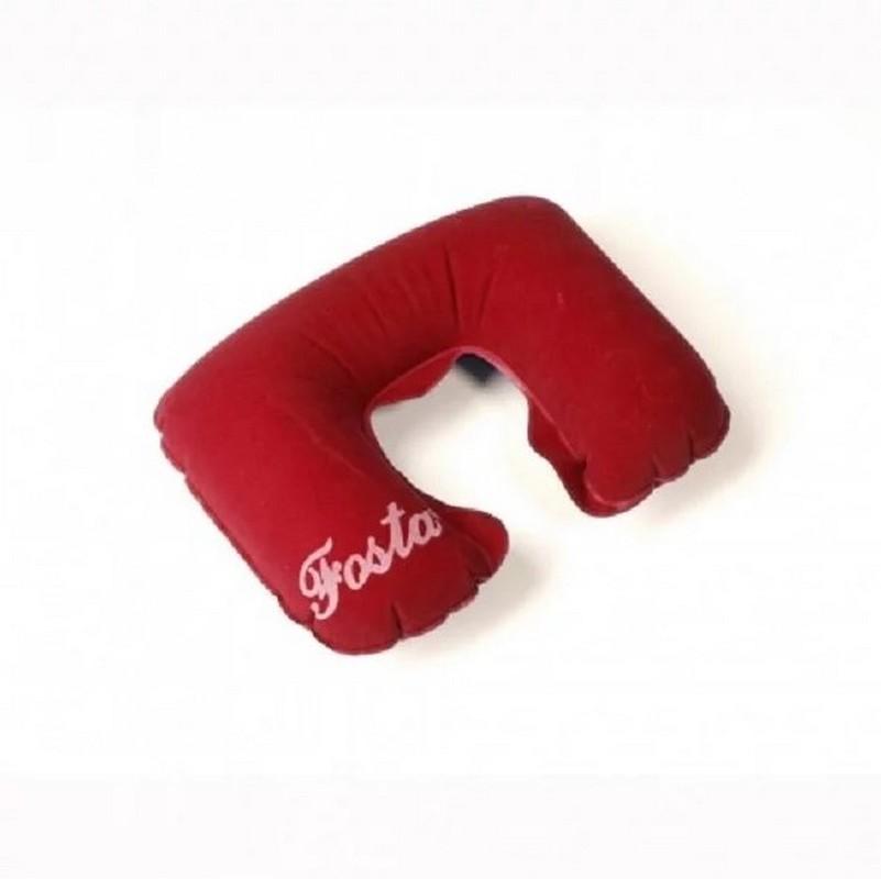 Подушка надувная с вырезом под голову Fosta F 8052 красный