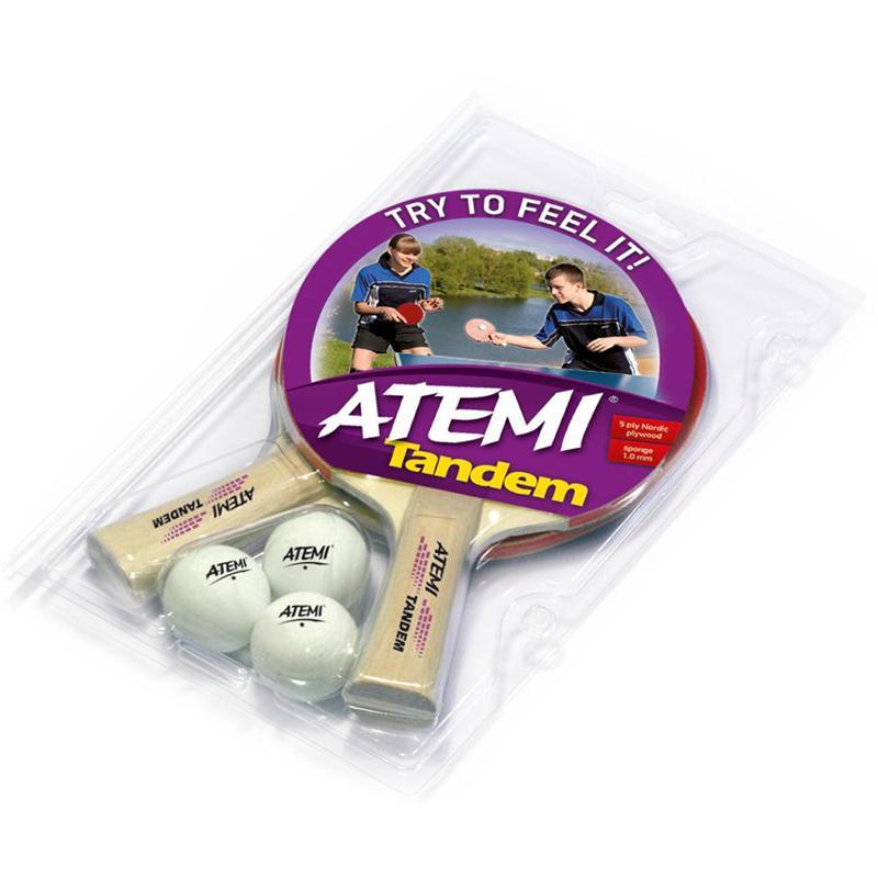 Набор для настольного тенниса Atemi Tandem 2 ракетки+3 мяча цена