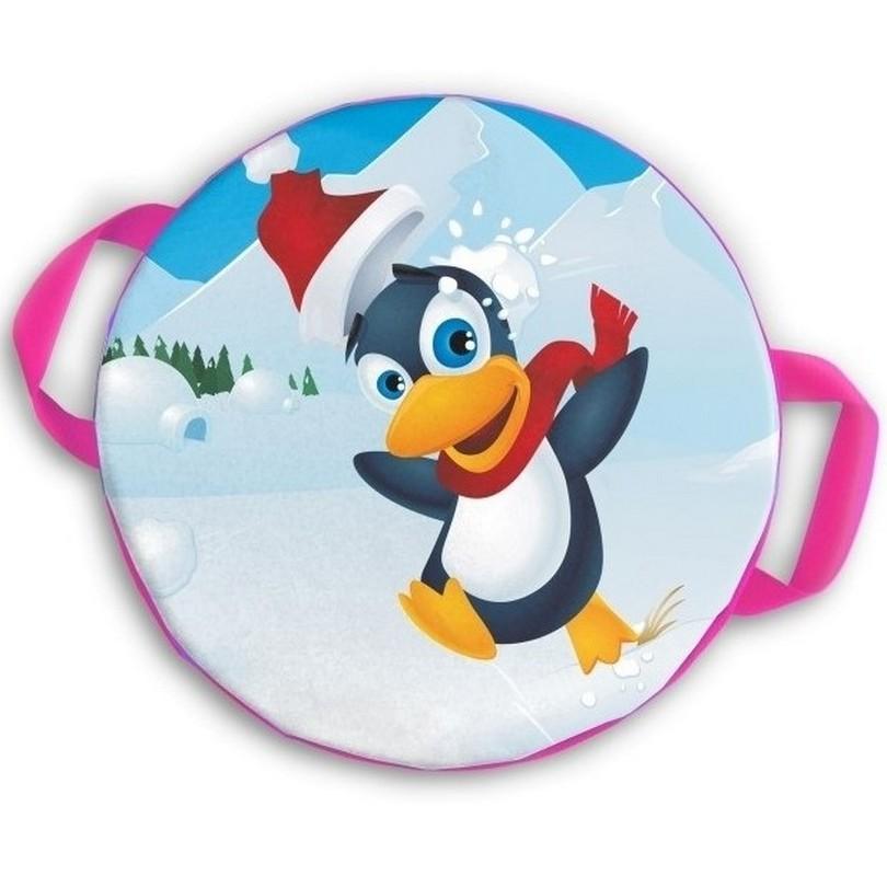 Ледянка мягкая круглая ComboSport D=35 см Веселый пингвинчик