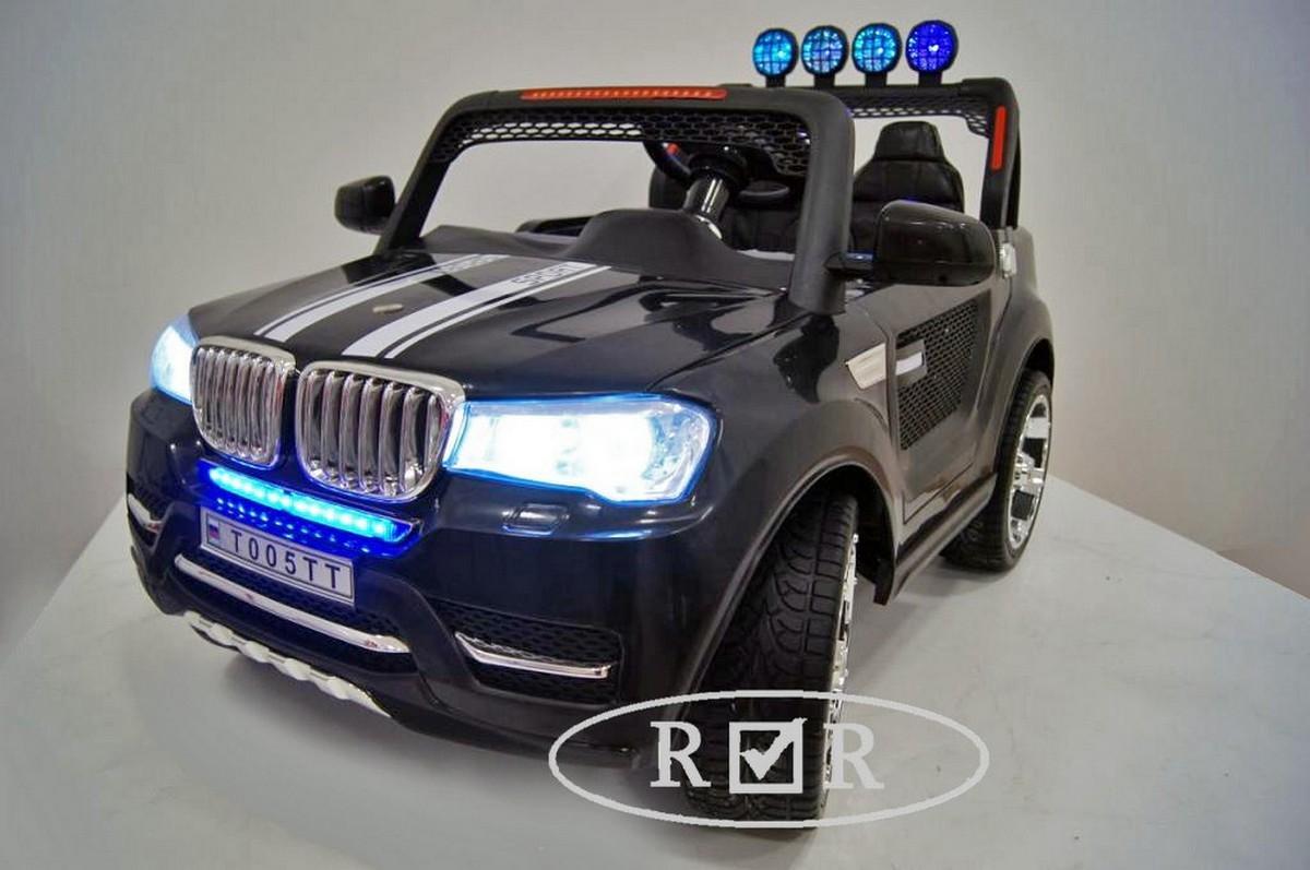 Детский электромобиль  с дистанционным управлением (полный привод) RiVeRtoys BMW T005TT