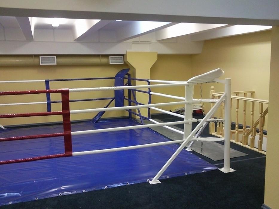 Купить Ринг боксёрский на упорах Atlet 7х7 м, боевая зона 6х6 монтажная площадка м IMP-A429,