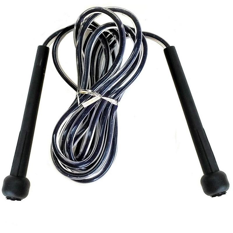 Купить Скакалка скоростная 2,8 м. Ручки ПП, шнур ПВХ (черная) R18145, NoBrand