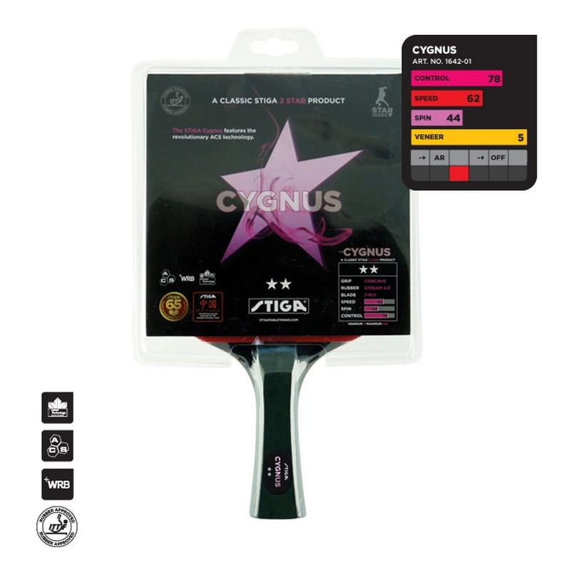 Ракетка для настольного тенниса Stiga Cygnus WRB Crystal ACS 1642-01 stiga cygnus 2
