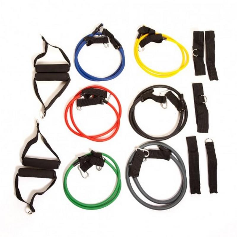 Набор трубчатых эспандеров TRX 6 шт. №6 эспандеры starfit эспандер starfit es 702 power twister черный 50 кг