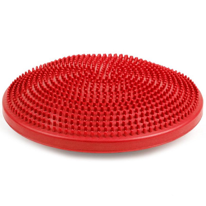 Купить Полусфера массажная овальная надувная (ПВХ) d-33см MSG300 красная, NoBrand