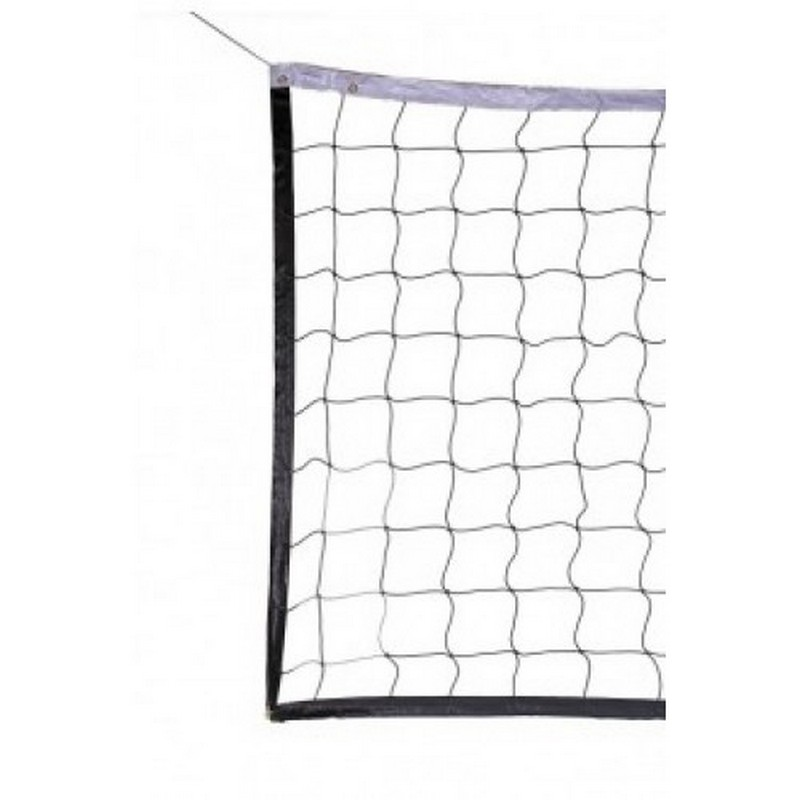 Сетка волейбол Д=2,8мм, ячейки 10x10 белый, зеленый ZSO Размер 1x9,5м обш. с 4-х сторон, верх лента 10 см. ПП