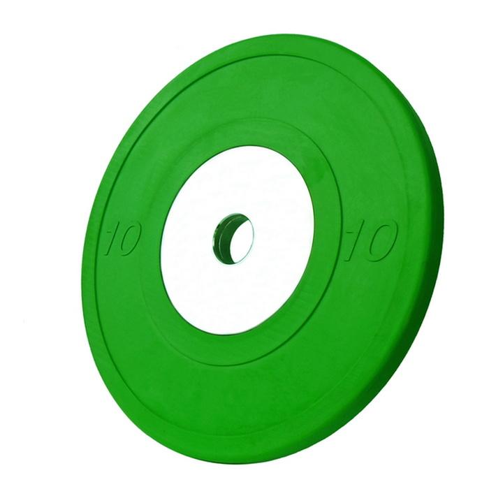 Купить Диск обрезиненный Vertex Crossfit D50мм 10 кг., зелёный,