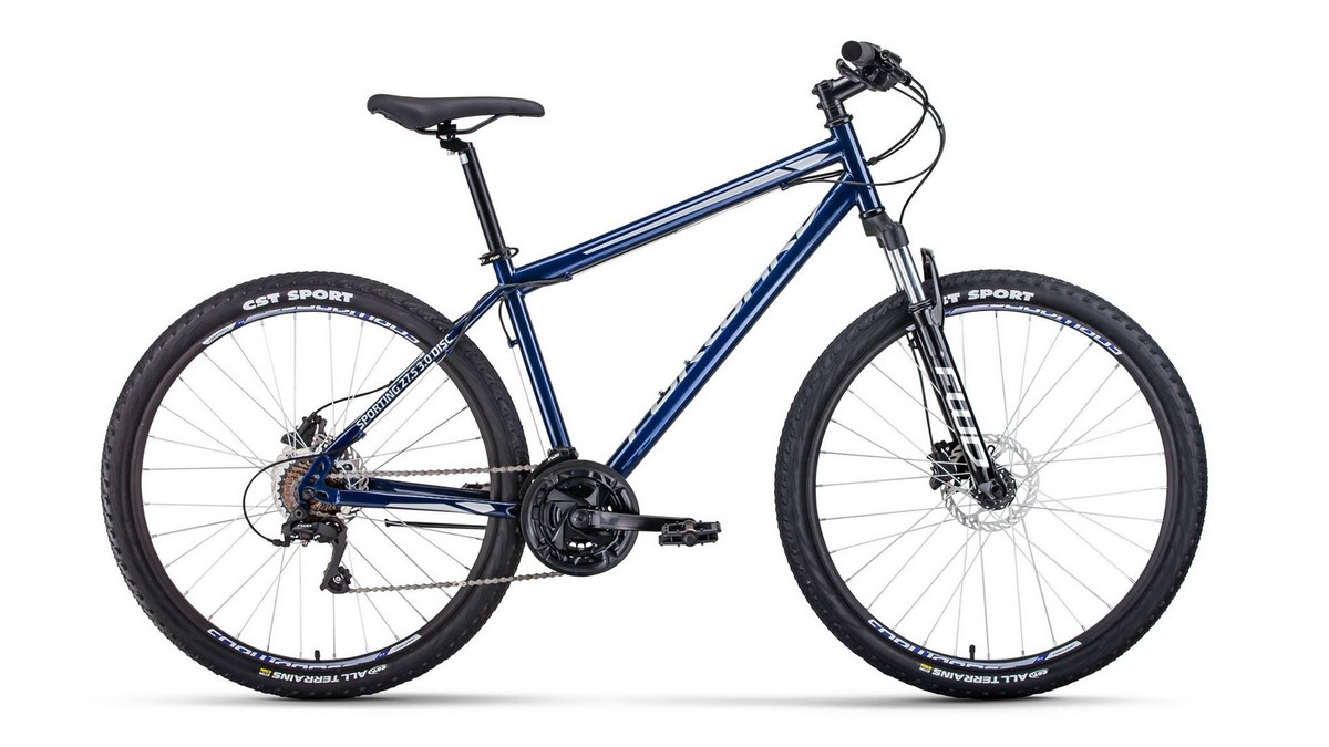 Купить Велосипед 27,5 Forward Sporting 27,5 3.0 disc Темно-синийСерый 19-20 г,