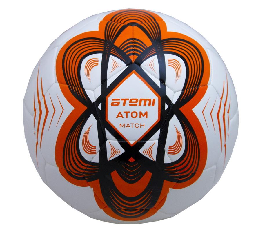 Купить Мяч футбольный Atemi ATOM Hybrid, оранж, р.5,
