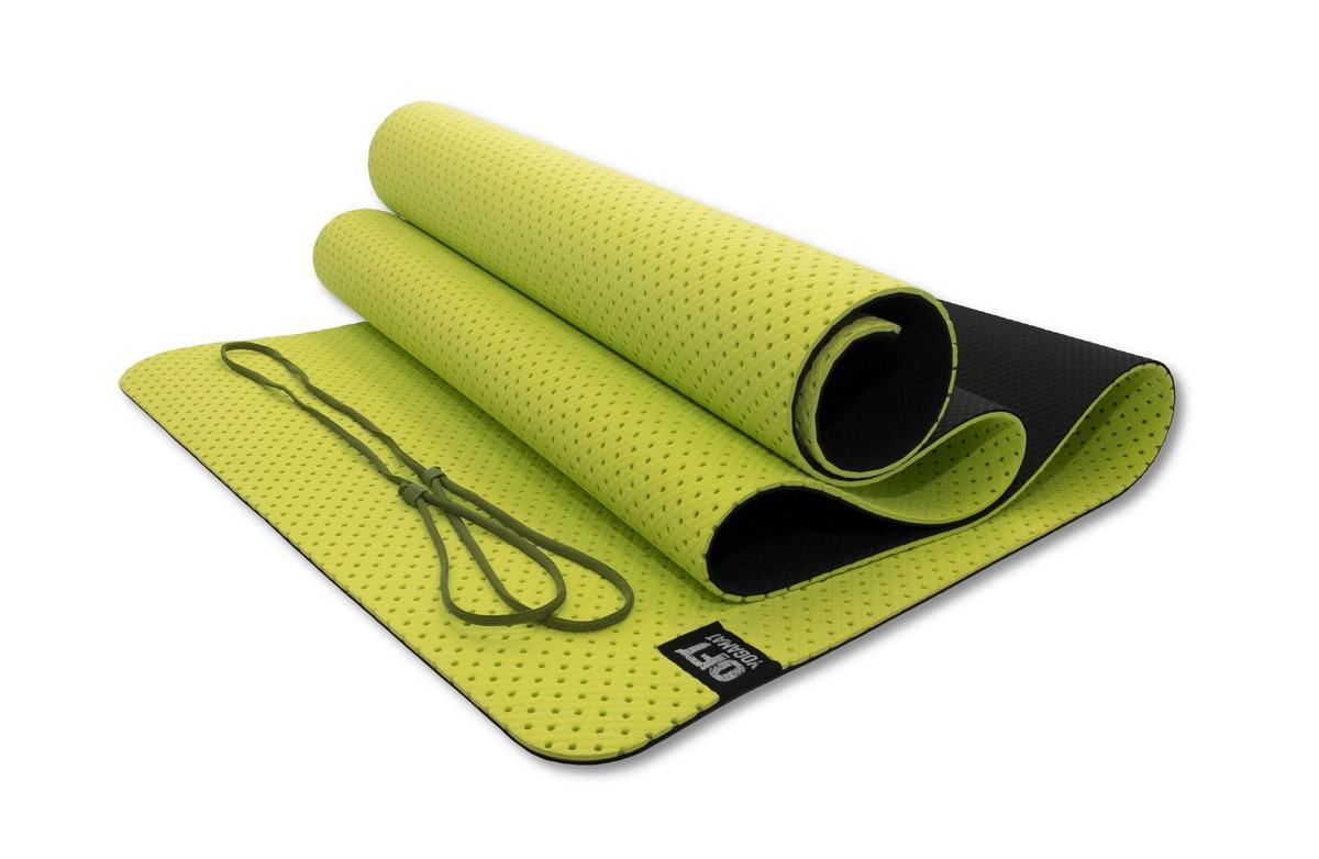 Мат для йоги Original Fit.Tools FT-YGM6-3DT-OLIVE оливковый