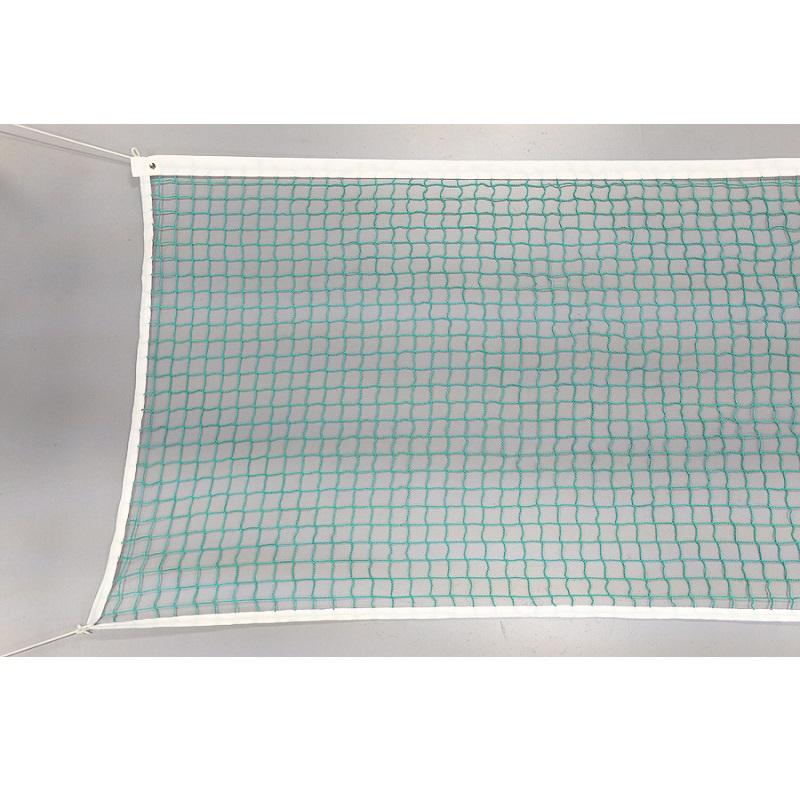Сетка для большого тенниса D=3,5 мм, 107х1280 см, обш.с 4-х сторон, ПП, безузловая, без троса УТ1133 зеленая