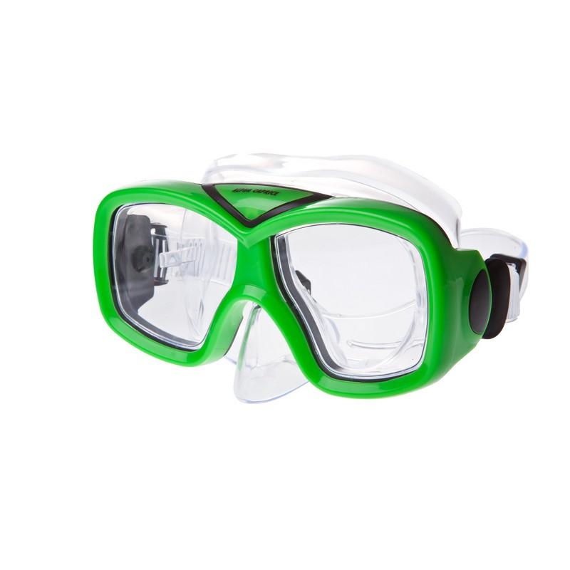Купить Маска для плавания Alpha Caprice М-1015 ПВХ зеленый,
