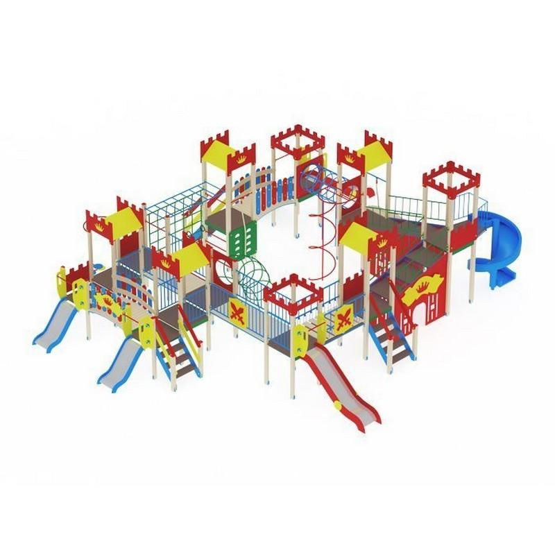Купить Детский игровой комплекс Замок (винтовойскат)горкаН 900горкаН1200горкаН2000 МАФ1240х927х450 см ДИК1812, МАФ