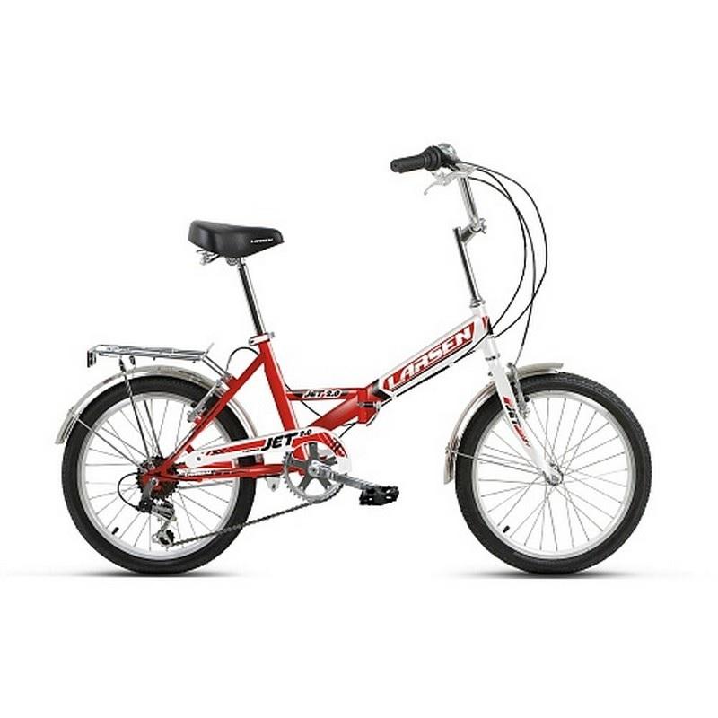 Картинка для Велосипед Larsen Jet 2.0 6ск, красный\белый