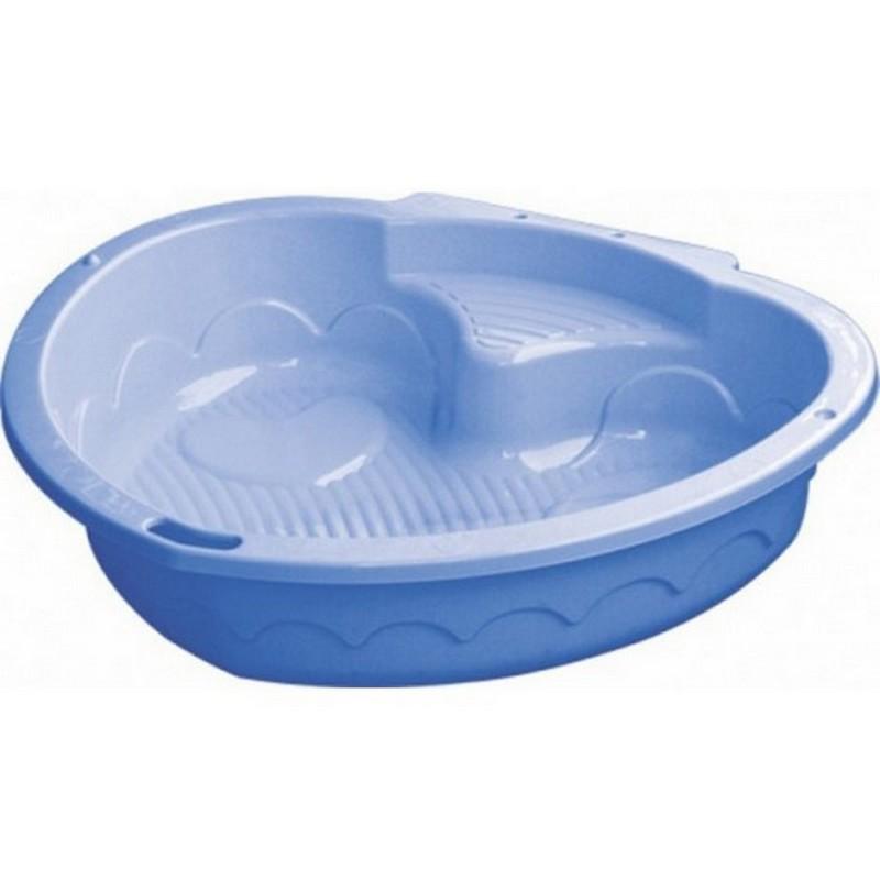 Песочница-бассейн Marian Plast Сердечко 434, синий песочница бассейн marian plast palplay лодочка желтый 308