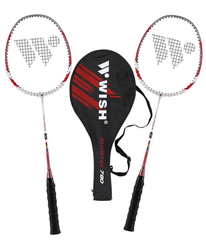 Набор для бадминтона Wish Alumtec 780 2 ракетки, красный от Дом Спорта